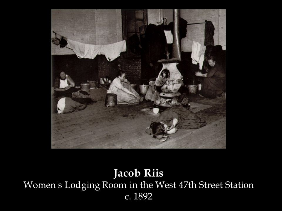 Jacob Riis Women s Lodging Room in the West 47th Street Station c. 1892