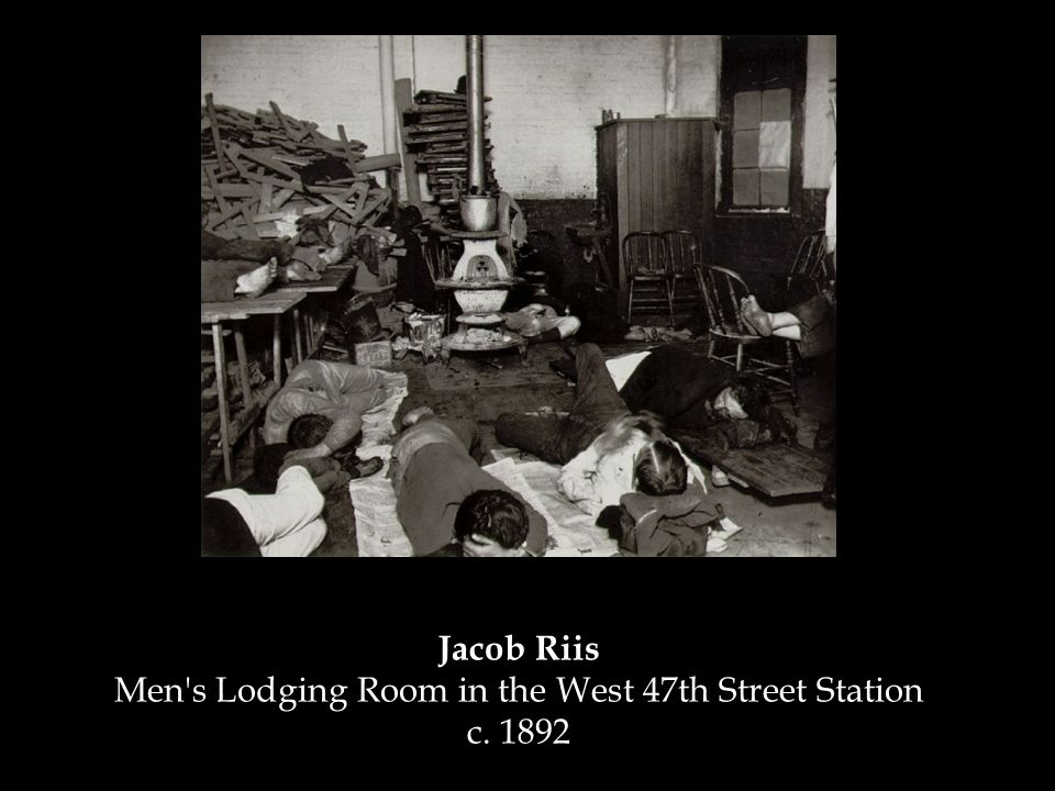 Jacob Riis Men s Lodging Room in the West 47th Street Station c. 1892