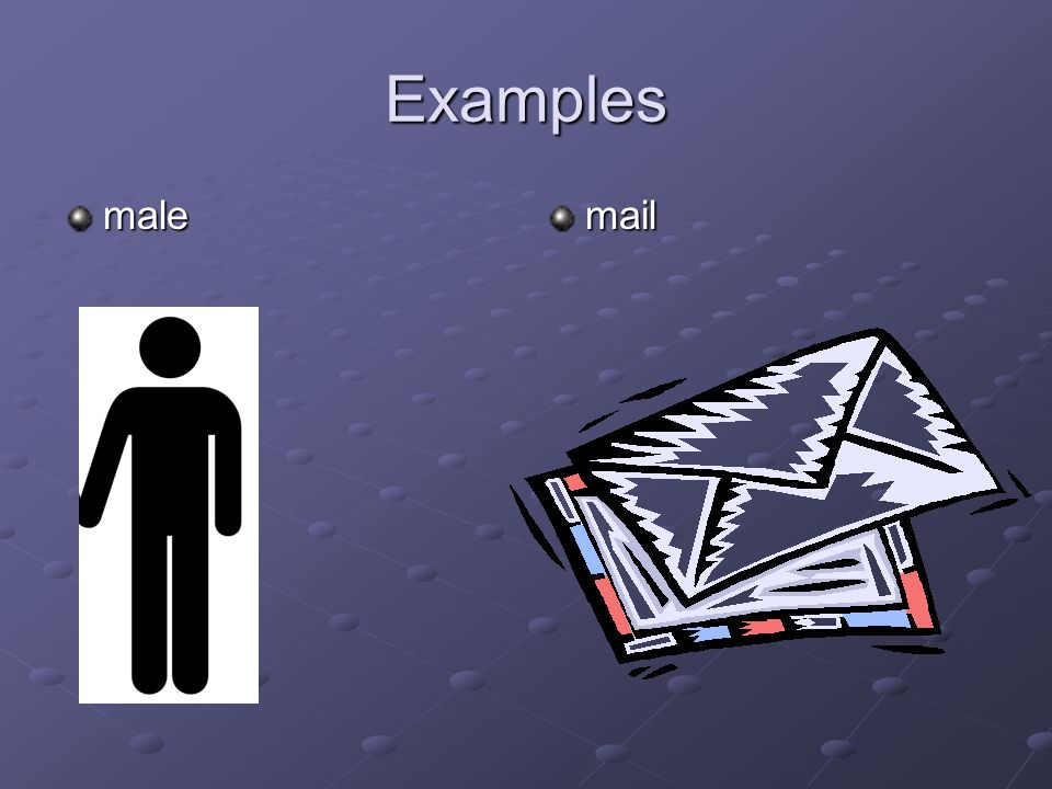 Examples male mail