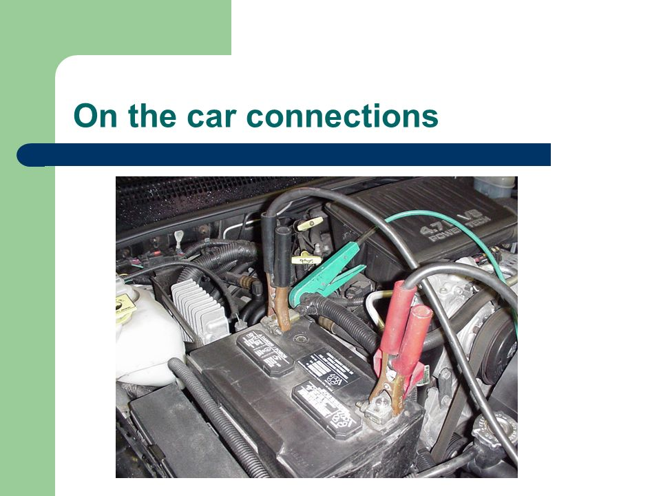 On the car connections