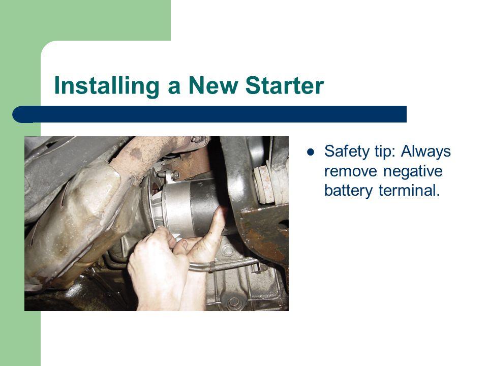 Installing a New Starter