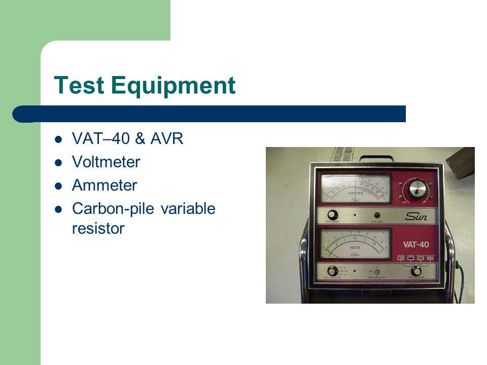 Test Equipment VAT–40 & AVR Voltmeter Ammeter