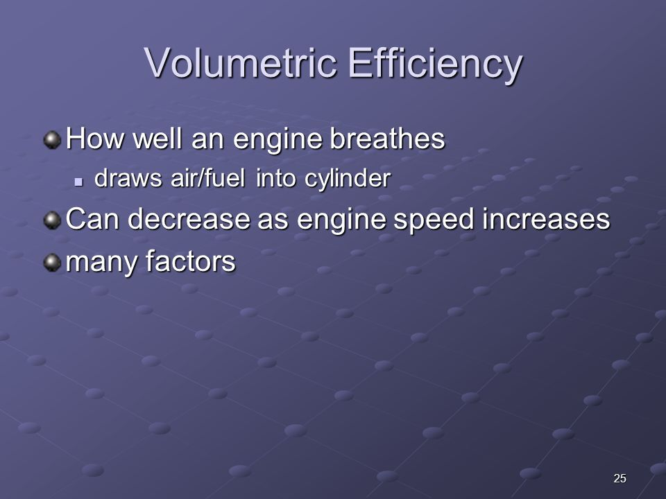 Volumetric Efficiency
