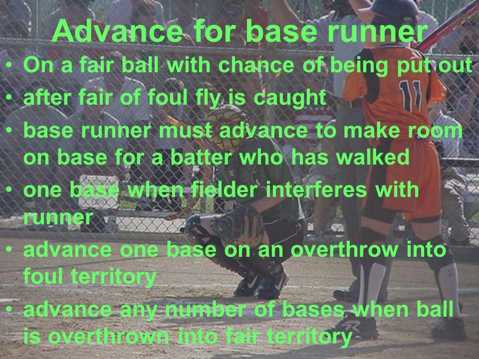Advance for base runner