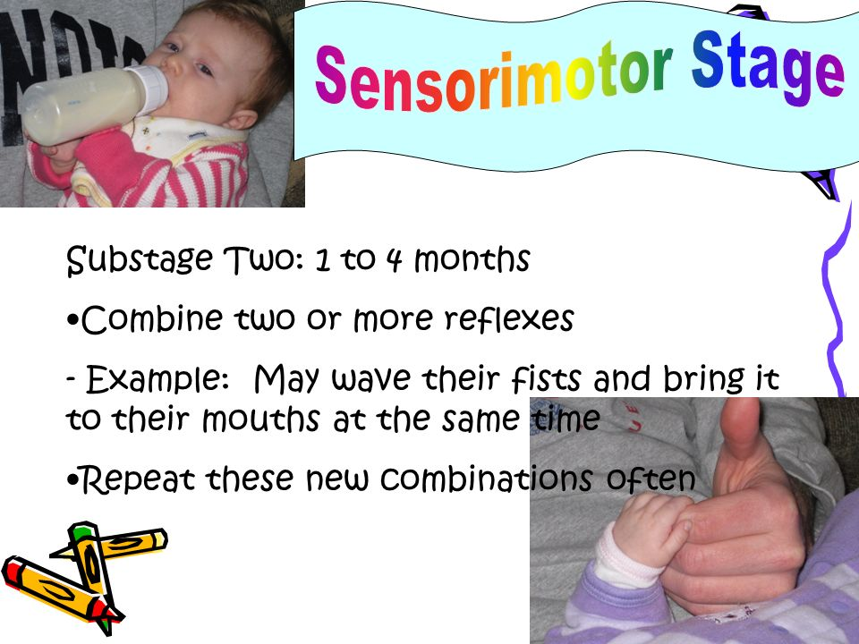 Sensorimotor Stage Substage Two: 1 to 4 months