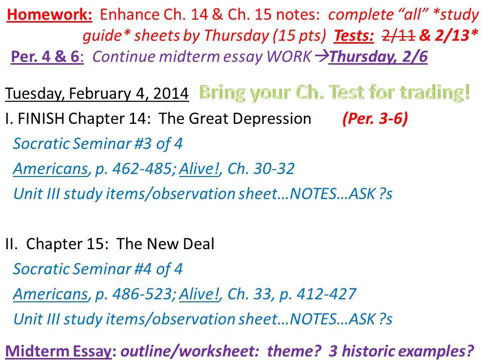 great depression outline essay