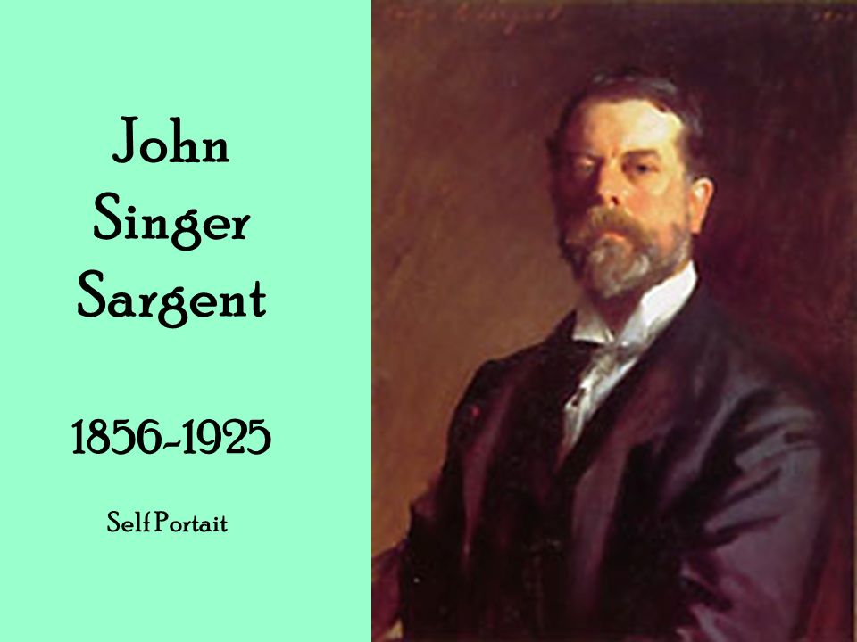 John Singer Sargent Self Portait