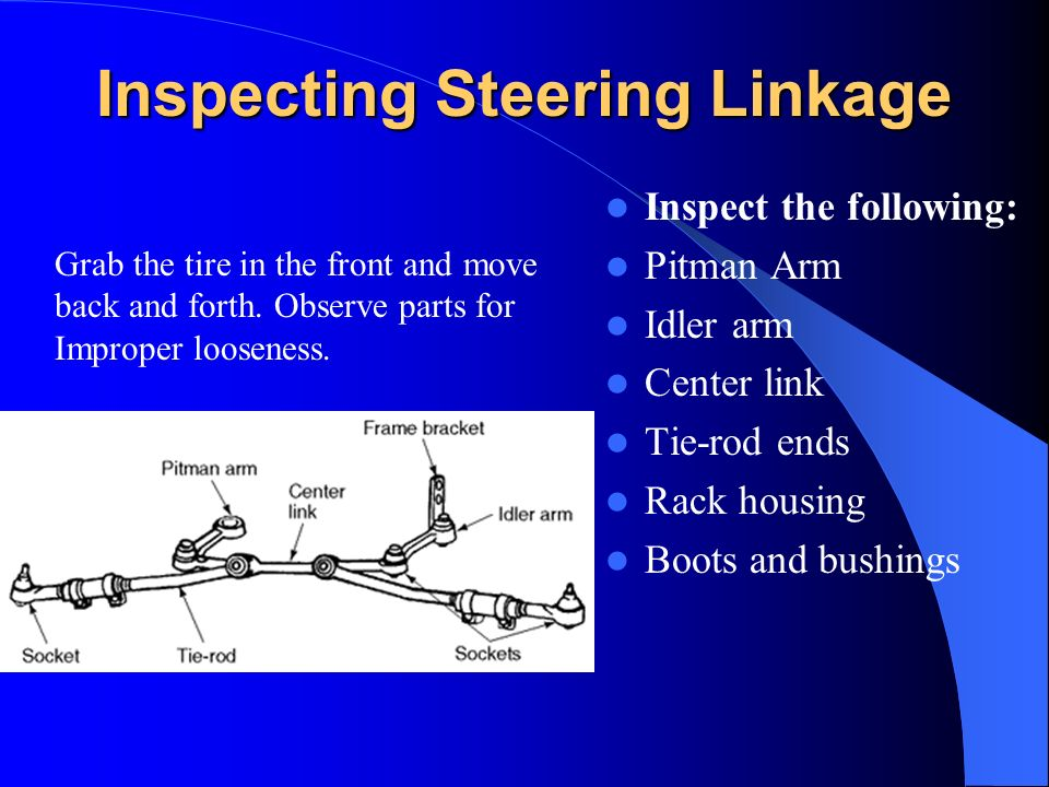 Inspecting Steering Linkage