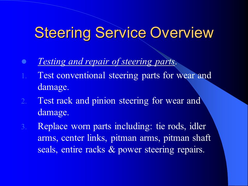 Steering Service Overview