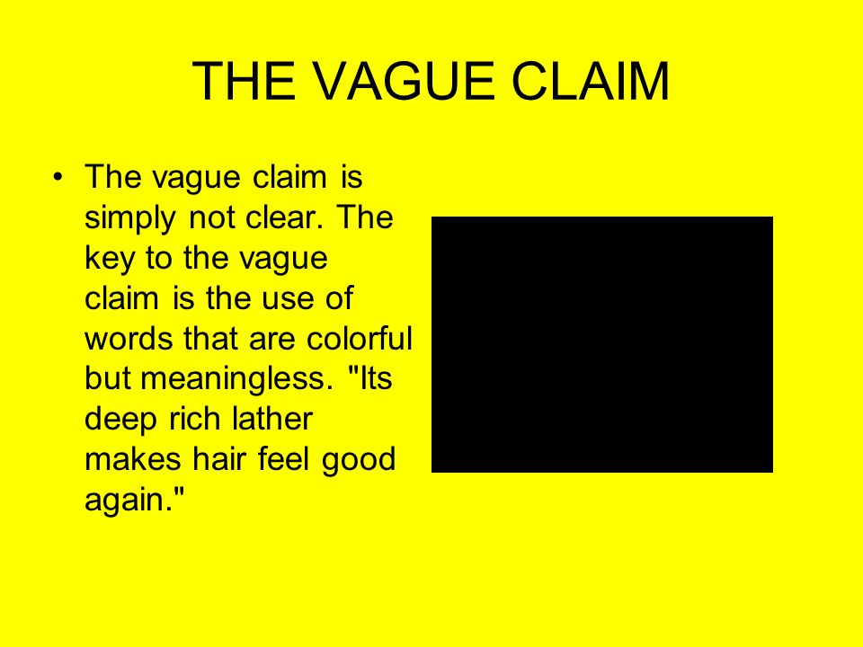 THE VAGUE CLAIM