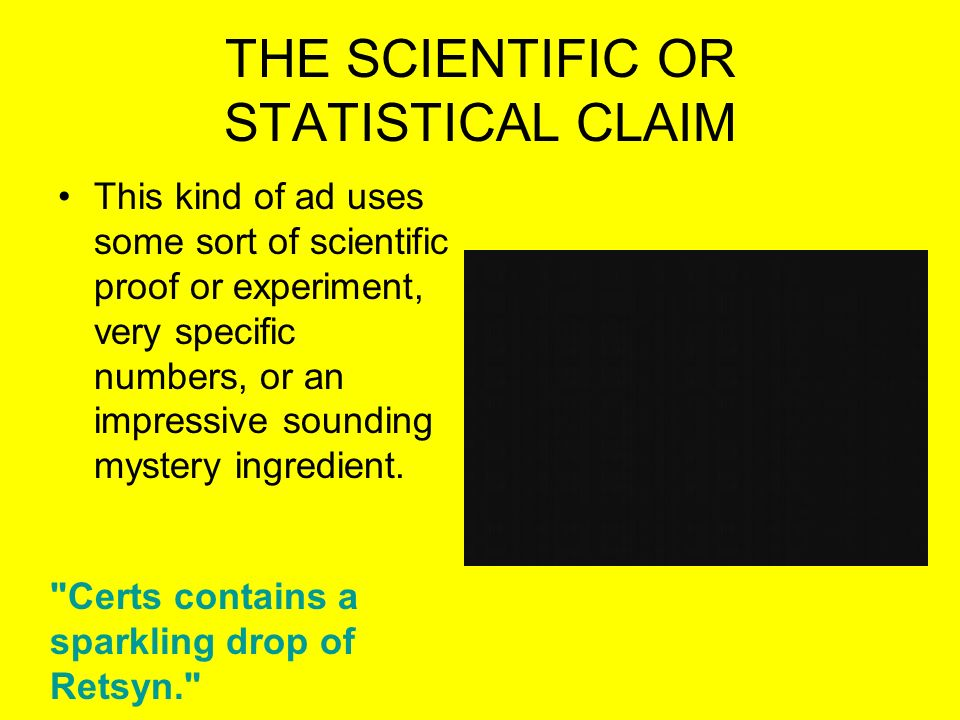 THE SCIENTIFIC OR STATISTICAL CLAIM