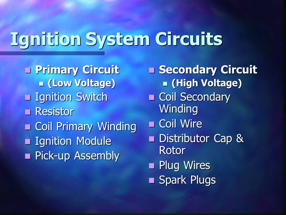 Ignition System Circuits