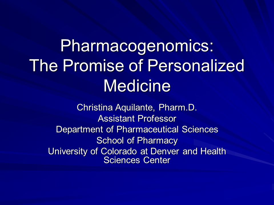 Pharmacogenomics: The Promise of Personalized Medicine