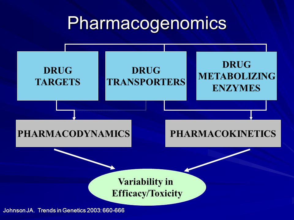 Pharmacogenomics DRUG TARGETS DRUG TRANSPORTERS DRUG METABOLIZING