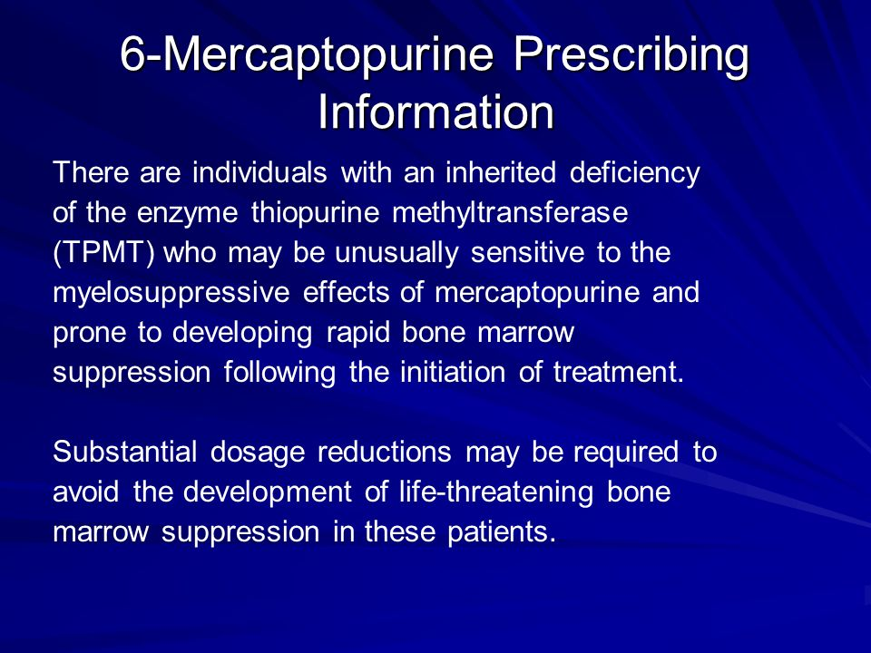 6-Mercaptopurine Prescribing Information