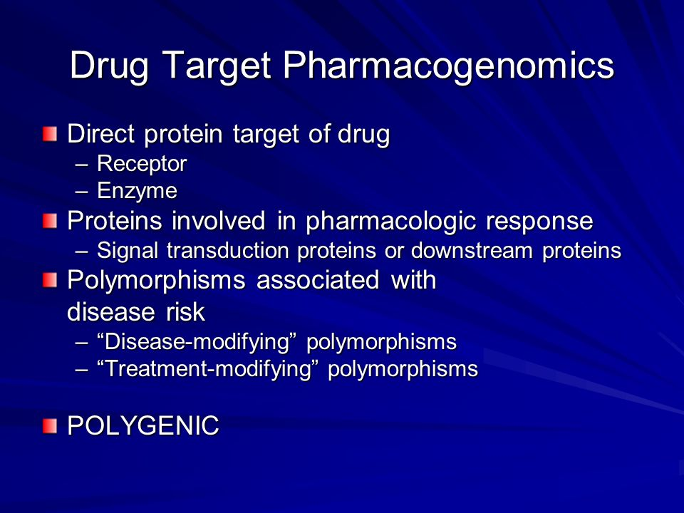 Drug Target Pharmacogenomics