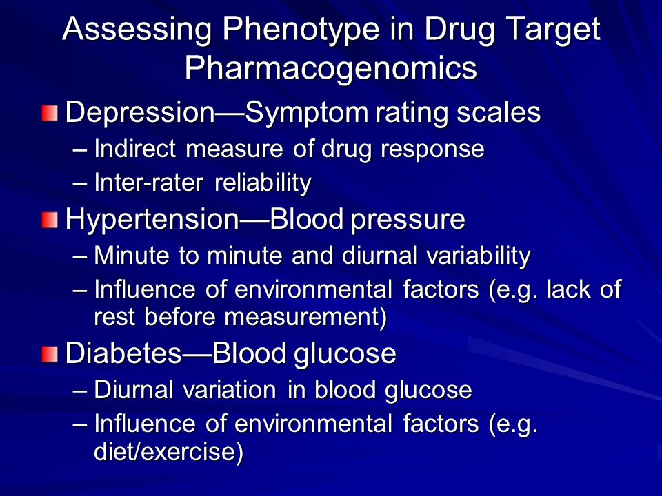 Assessing Phenotype in Drug Target Pharmacogenomics