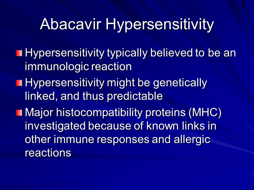 Abacavir Hypersensitivity