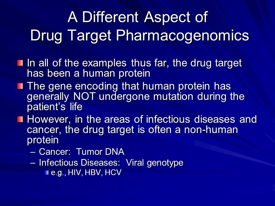 A Different Aspect of Drug Target Pharmacogenomics