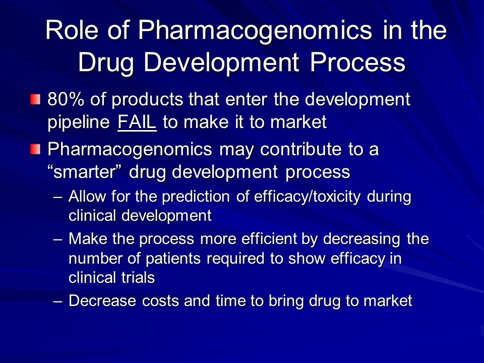 Role of Pharmacogenomics in the Drug Development Process