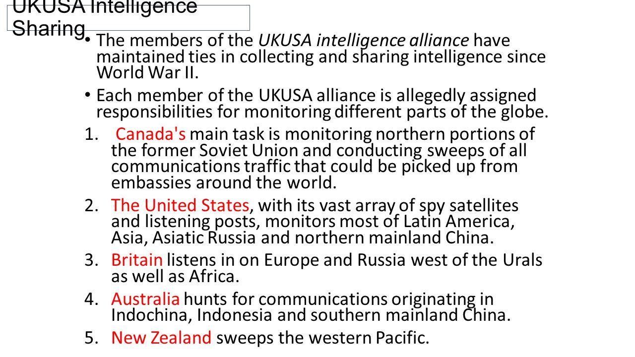 UKUSA Intelligence Sharing