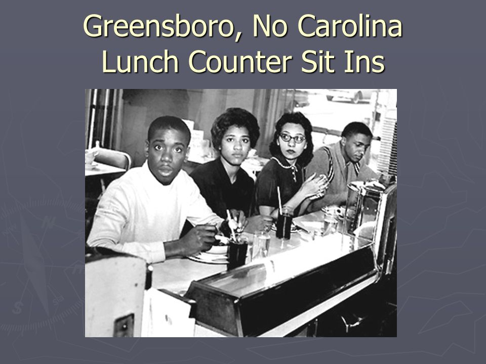 Greensboro, No Carolina Lunch Counter Sit Ins