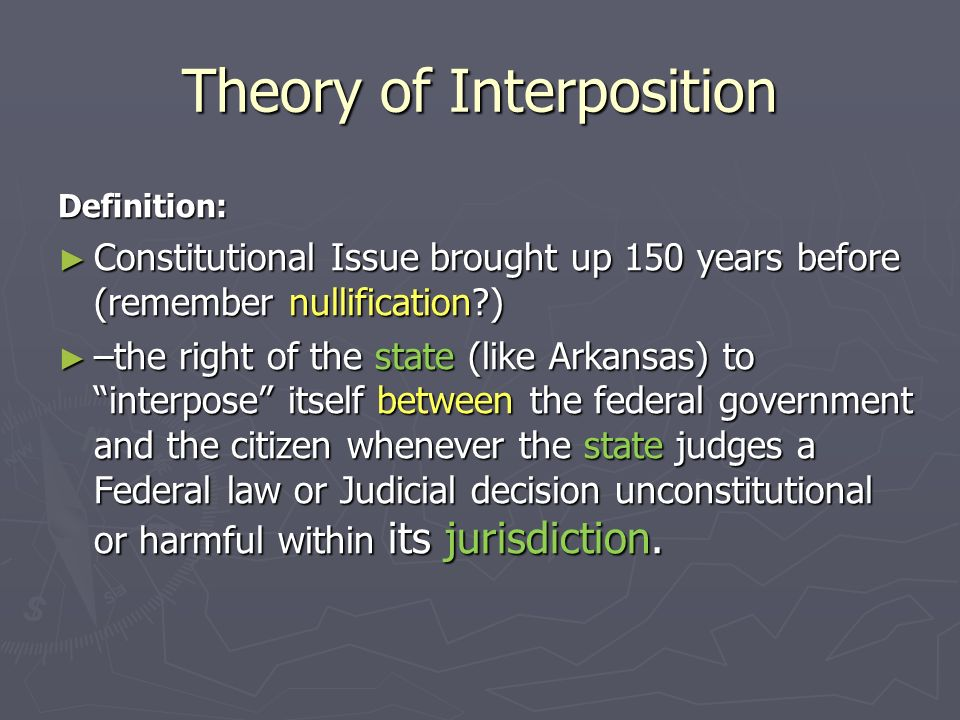 Theory of Interposition