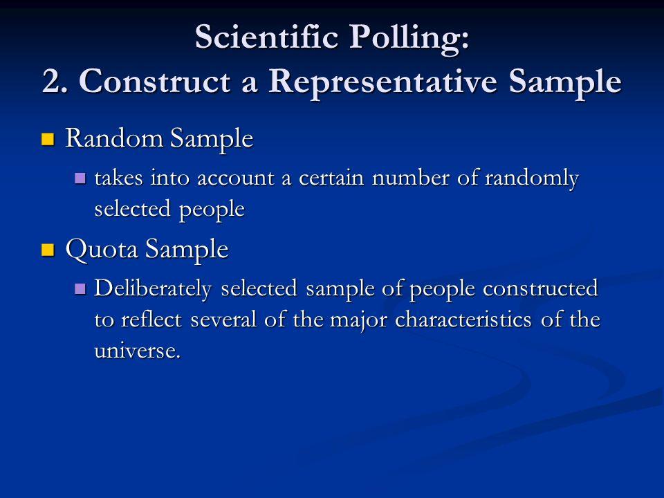 Scientific Polling: 2. Construct a Representative Sample