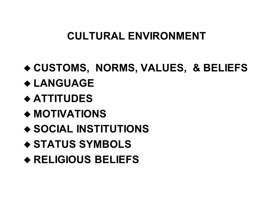 an analysis of social norms in environment Overview cultural and social norms can encourage violence rules or expectations of behaviour – norms – within a cultural or social group can.
