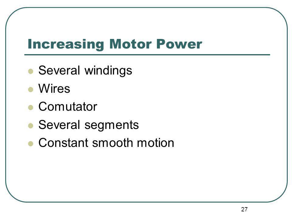 Increasing Motor Power