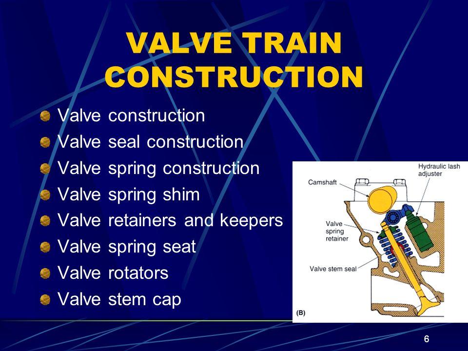 VALVE TRAIN CONSTRUCTION