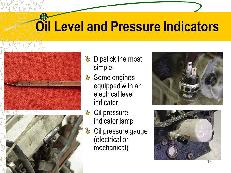 Oil Level and Pressure Indicators