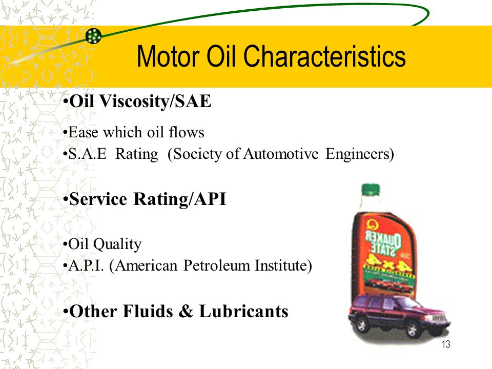 Lubrication system ppt video online download for Motor oil api rating