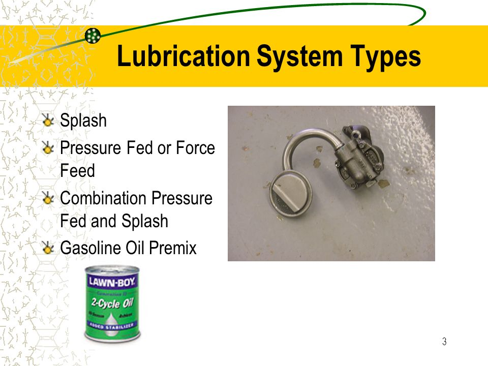 Types Of Lubrication Systems : Lubrication system ppt video online download