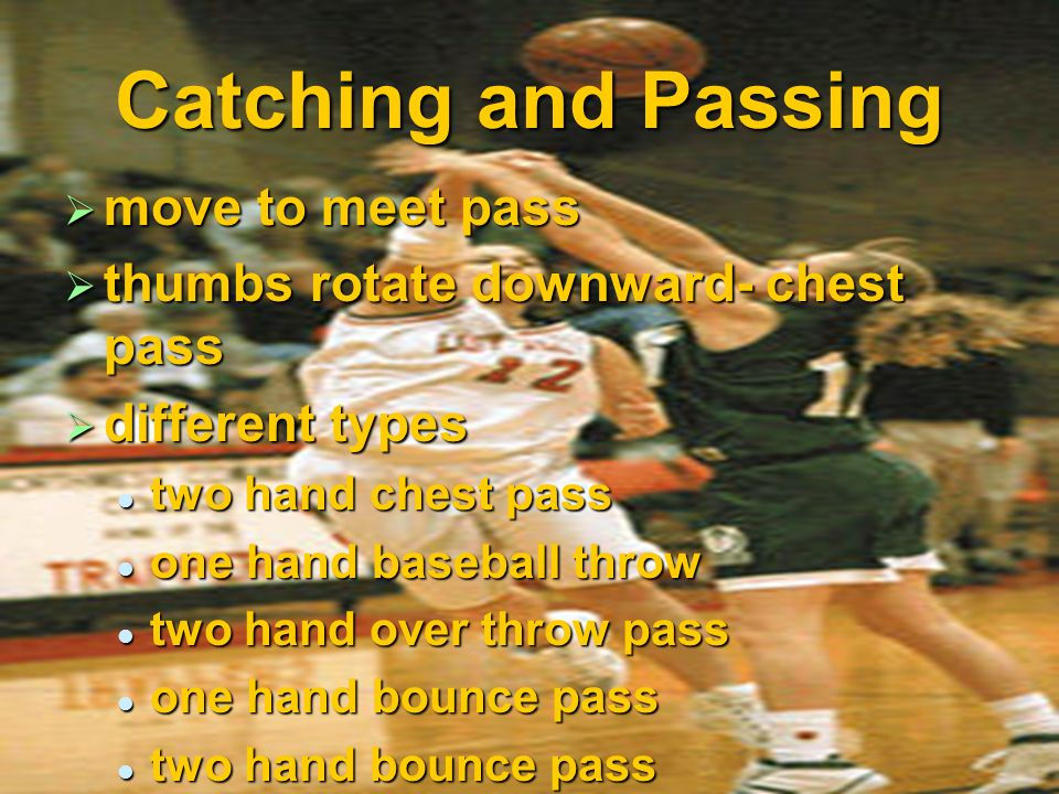 Catching and Passing move to meet pass