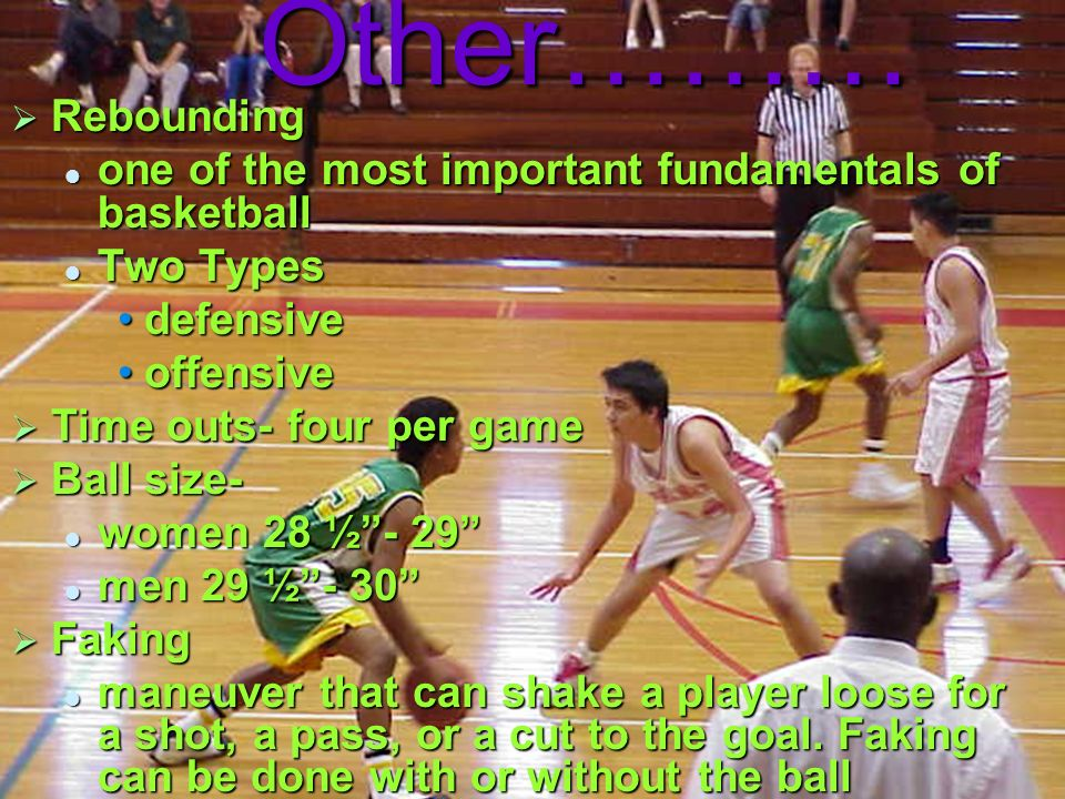 Other……… Rebounding. one of the most important fundamentals of basketball. Two Types. defensive.