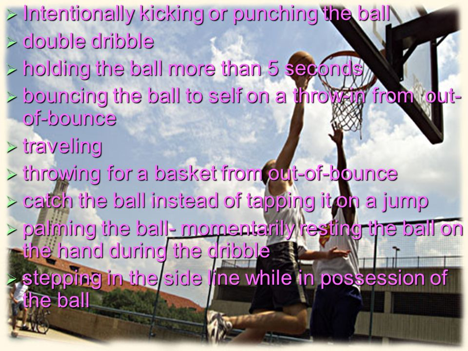 Intentionally kicking or punching the ball