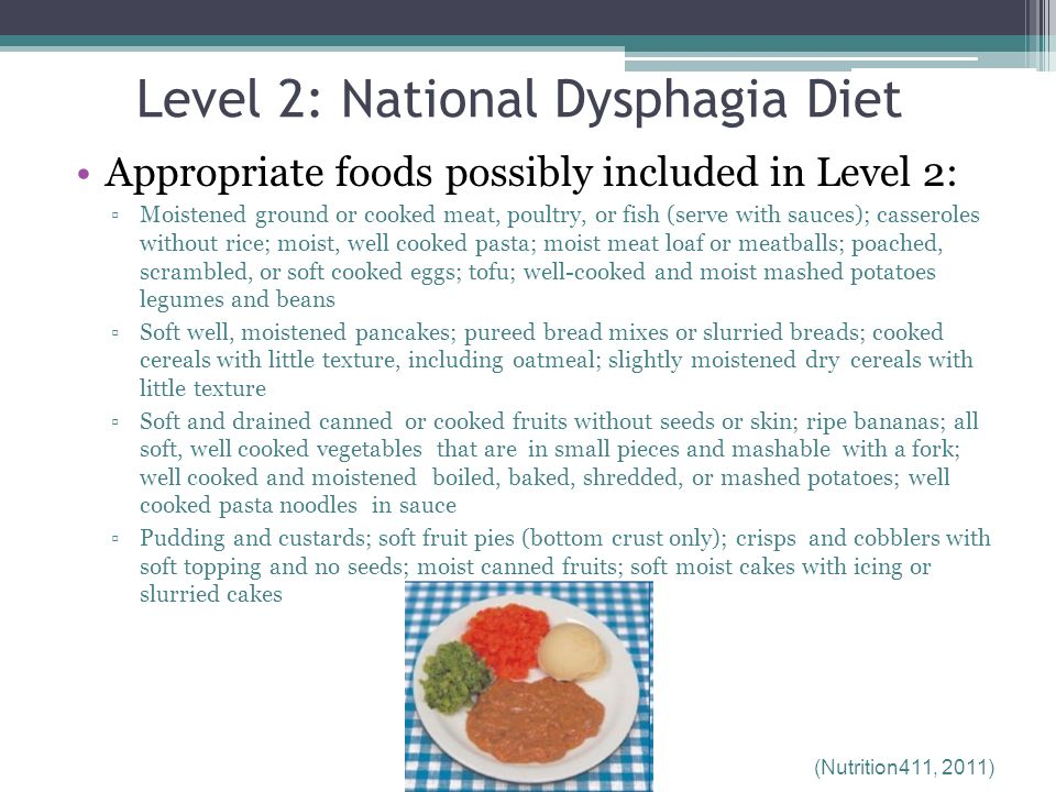 Dysphagia Diets: IDDSI Replaces NDD