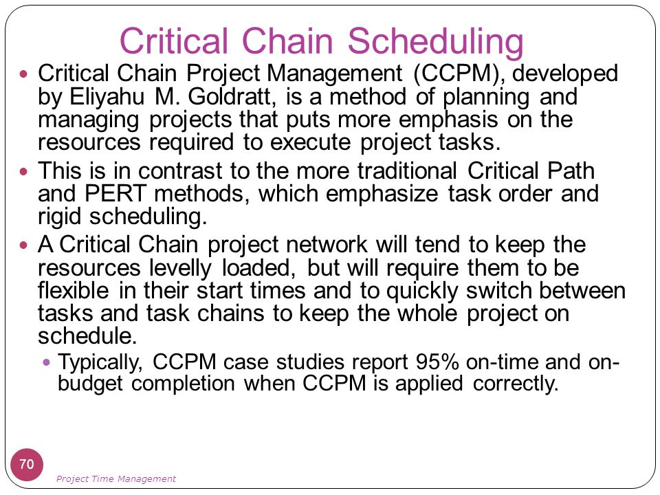 critical chain project management a report This chapter compares traditional (critical path) project management with the critical chain approach.