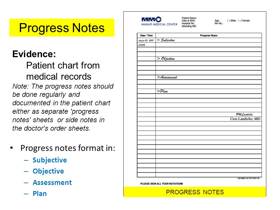 PhilHealth Core Standards ppt download – Subjective Objective Assessment Planning Note