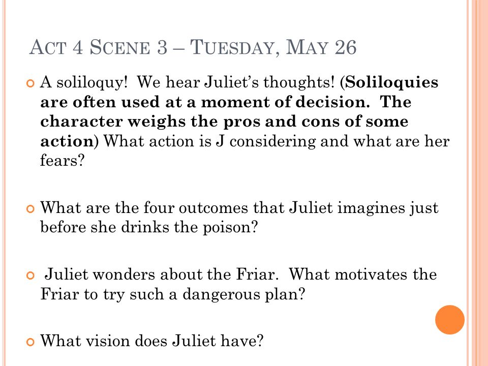 Act 4 Scene 3 – Tuesday, May 26