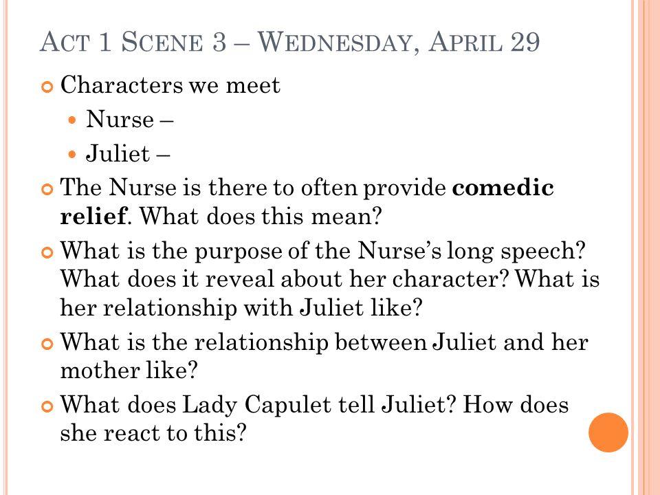 Act 1 Scene 3 – Wednesday, April 29
