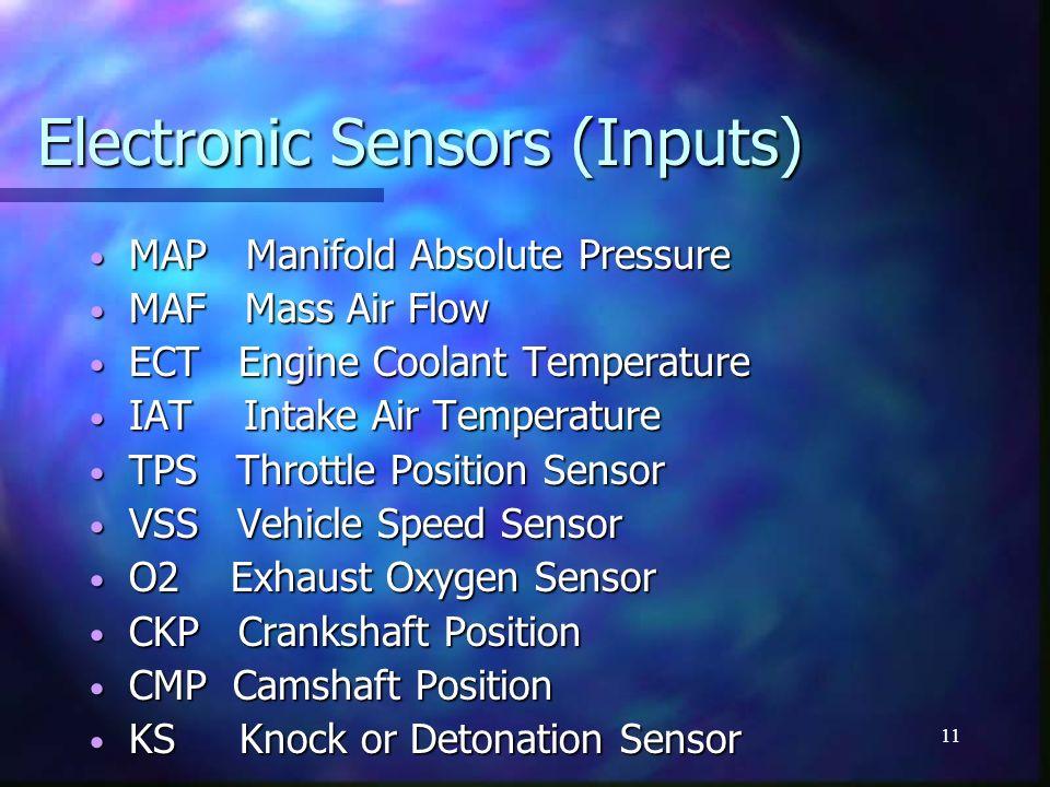 Electronic Sensors (Inputs)