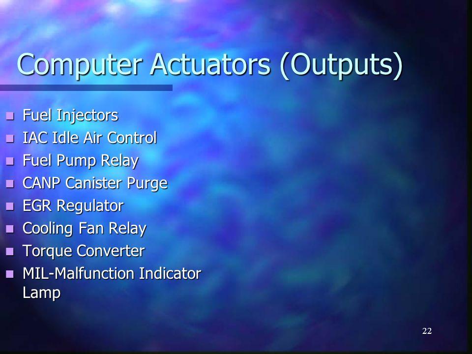 Computer Actuators (Outputs)