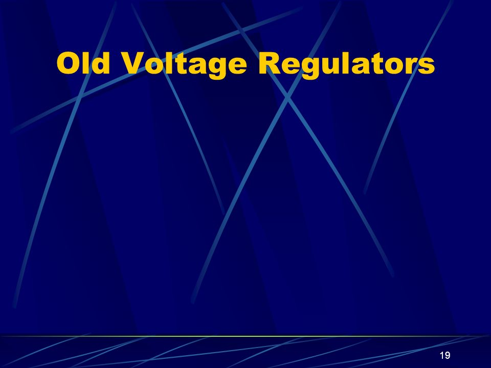 Old Voltage Regulators
