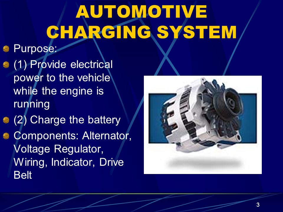 AUTOMOTIVE CHARGING SYSTEM