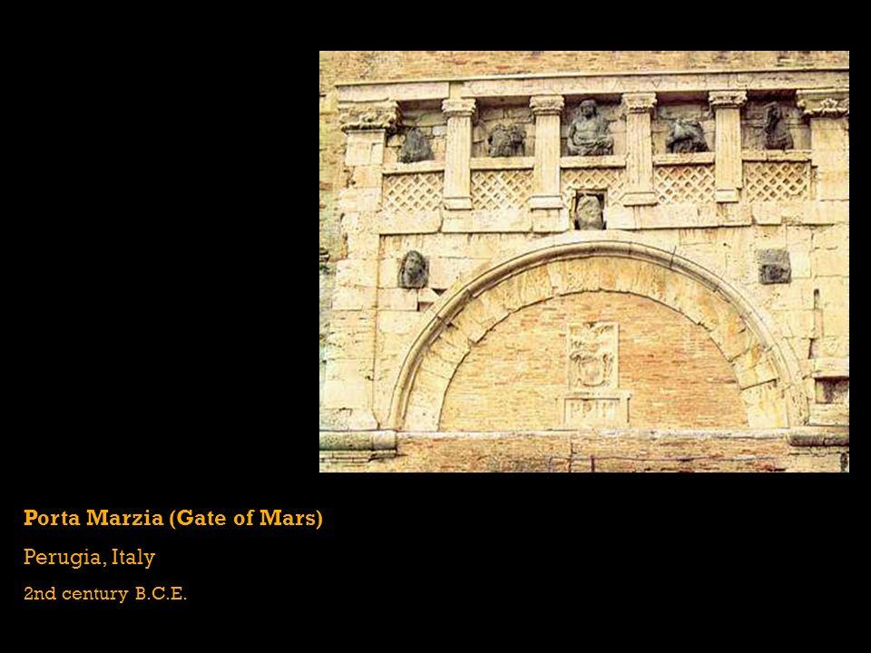 Porta Marzia (Gate of Mars) Perugia, Italy