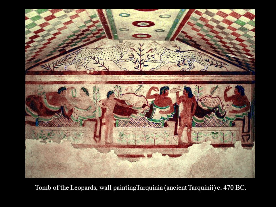 Tomb of the Leopards, wall paintingTarquinia (ancient Tarquinii) c