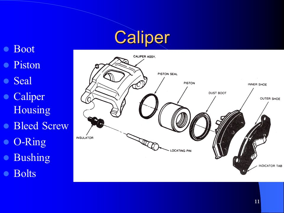 Caliper Boot Piston Seal Caliper Housing Bleed Screw O-Ring Bushing