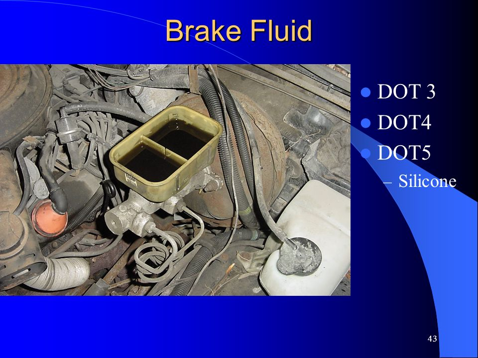 Brake Fluid DOT 3 DOT4 DOT5 Silicone